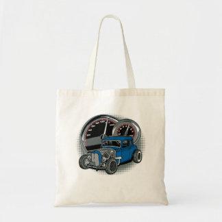 Blue Rat Rod Street Car Tote Bag