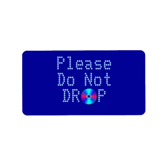 Blue Ray Address Label