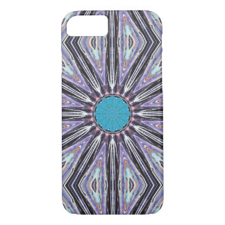 Blue Rays Graphic Star iPhone 7 Case
