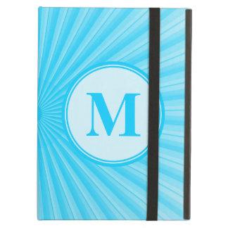 Blue Rays of Light Monogram iPad Air Cover