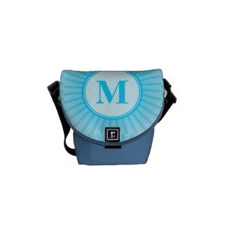 Blue Rays of Light Monogram Messenger Bags