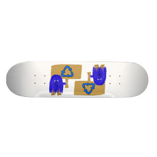 Blue recycle 21.6 cm skateboard deck