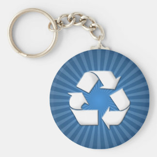 Blue Recycle Keychain 001