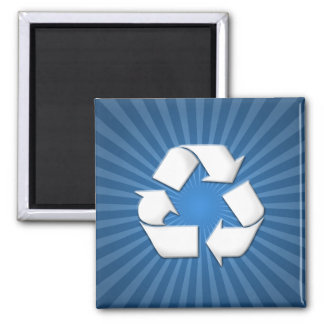 Blue Recycle Magnet 001