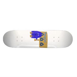 Blue Recycle sign Custom Skateboard