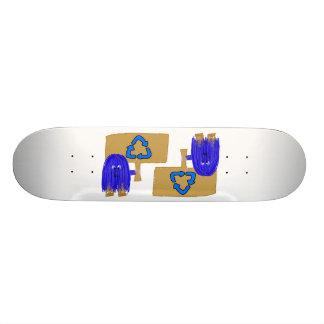 Blue recycle skateboard