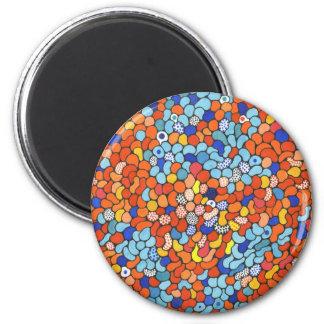 Blue Red and Orange Dot items Fridge Magnets
