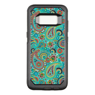 Blue Red And Yellow Paisley OtterBox Commuter Samsung Galaxy S8 Case