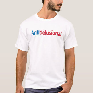"""Blue & Red """"Anti-delusional"""" T-shirt"""