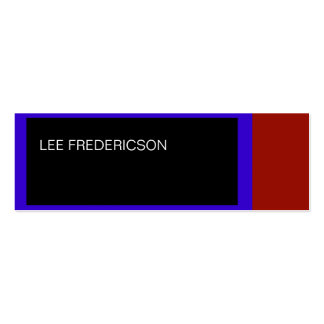 Blue Red Black Simple Plain Business Card