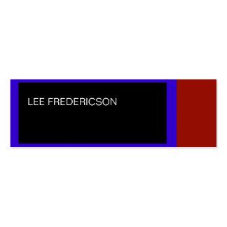 Blue Red Black Simple Plain Business Card