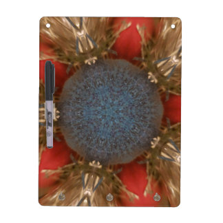 Blue Red Christmas Decoration Baubles Dry Erase Board