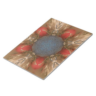 Blue Red Christmas Decoration Baubles Notepad