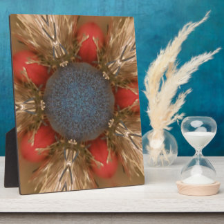 Blue Red Christmas Decoration Baubles Plaque