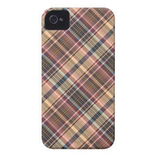 Blue red cream plaid iPhone 4 cover