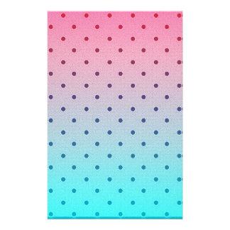 Blue Red Gradiant. Black Polka Dots Pattern 14 Cm X 21.5 Cm Flyer