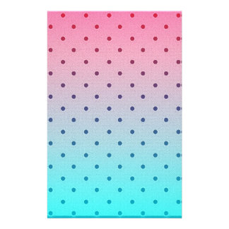 Blue Red Gradiant Black Polka Dots Pattern Personalized Flyer