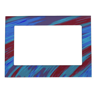Blue Red Modern Colorful Abstract Magnetic Photo Frame