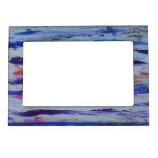 Blue red orange trendy 5x7 Magnetic Frame