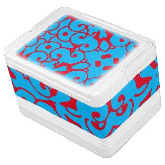 Blue Red Ornate 4Blake Cooler