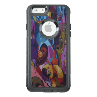 Blue red purple abstract graffiti OtterBox iPhone 6/6s case