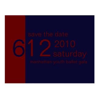Blue & Red Save the Date Postcard