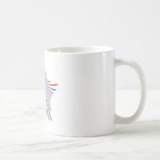 blue red star mug