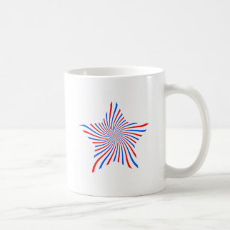 blue red star coffee mugs