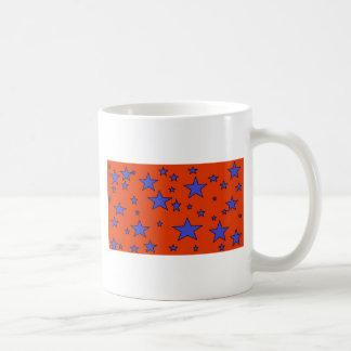 blue red stars mugs