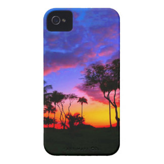 Blue Red Sunset Exotic Hawaiian Beach Palm Trees Case-Mate iPhone 4 Case