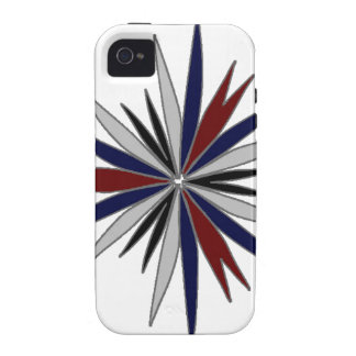 Blue / Red / White Star Design Vibe iPhone 4 Cases