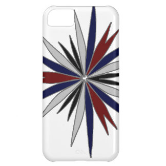 Blue Red White Star Design Cover For iPhone 5C