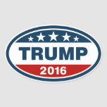 Blue/Red/White Trump 2016 Oval Sticker