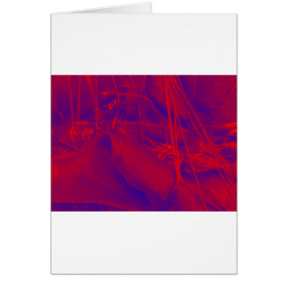 blue red yellow fabric greeting card