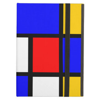 Blue red yellow Mondrian iPad Air Cover
