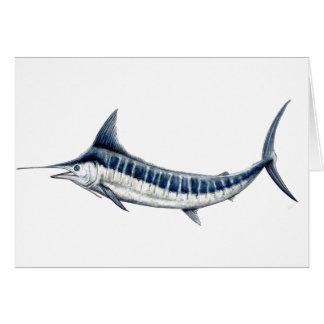 Blue-redbubble Marlin Card