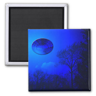 Blue Reflection Square Magnet