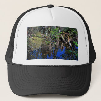 Blue Reflections in the Slough (Fort Myers, FL)- F Trucker Hat