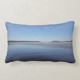 Blue Reflections of Rhossili Bay Cushion