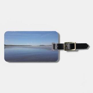 Blue Reflections of Rhossili Bay Luggage Tag