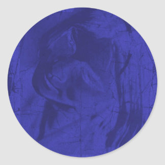 Blue Reflections Round Stickers