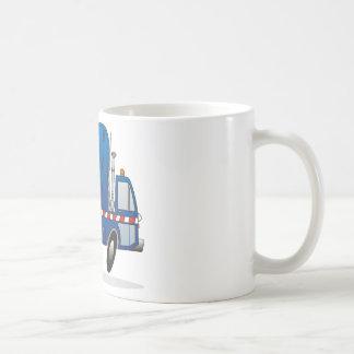 Blue Refuse Truck Coffee Mug