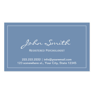 Blue Registered Psychologist Appointment Card Pack Of Standard Business Cards