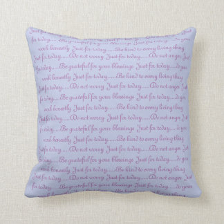Blue Reiki Principles Cushion
