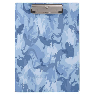 Blue Reptile Camouflage Clipboard