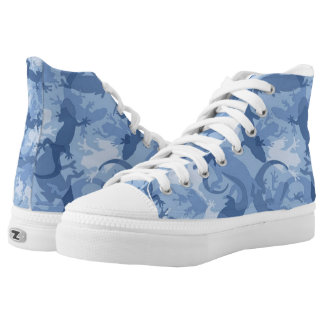 Blue Reptile Camouflage Shoes