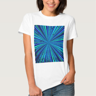 Blue Retro Grunge Background Tee Shirt