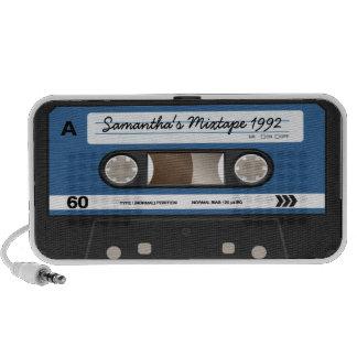 Blue Retro Mixtape Cassette Personalized Speaker