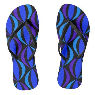 Blue  Retro Pattern Thongs