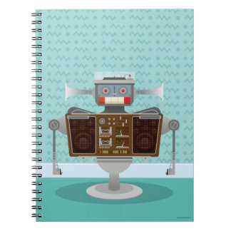 Blue Retro robot Notebook
